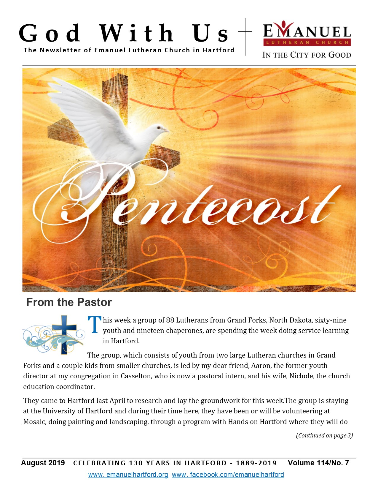 God With Us Newsletter – Emanuel Lutheran Church – In the